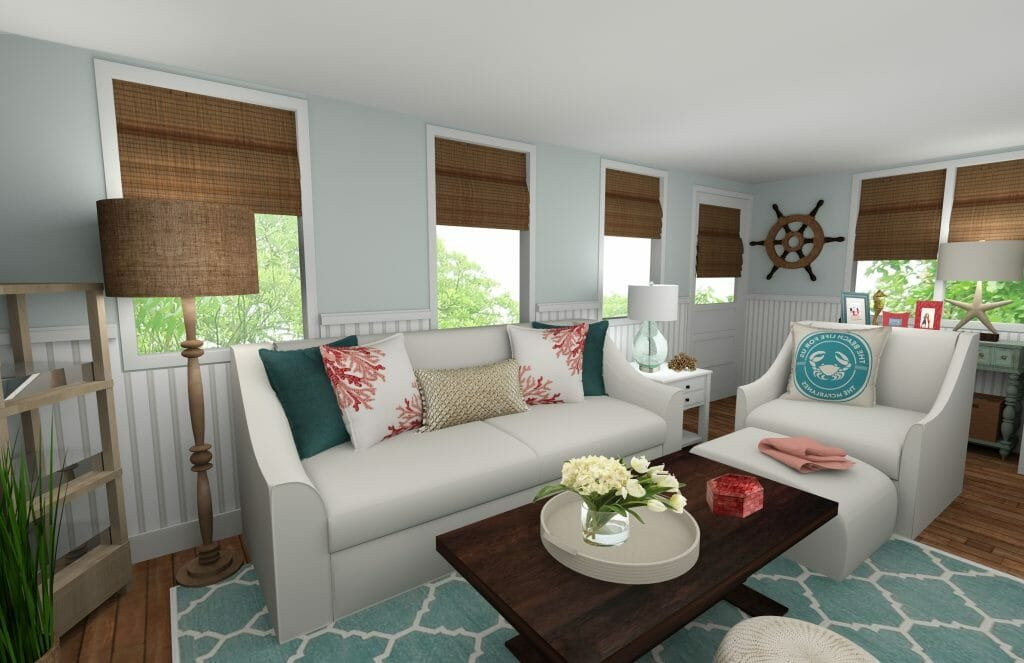 Online interior designer beach style living room decorilla for Interior designer on line
