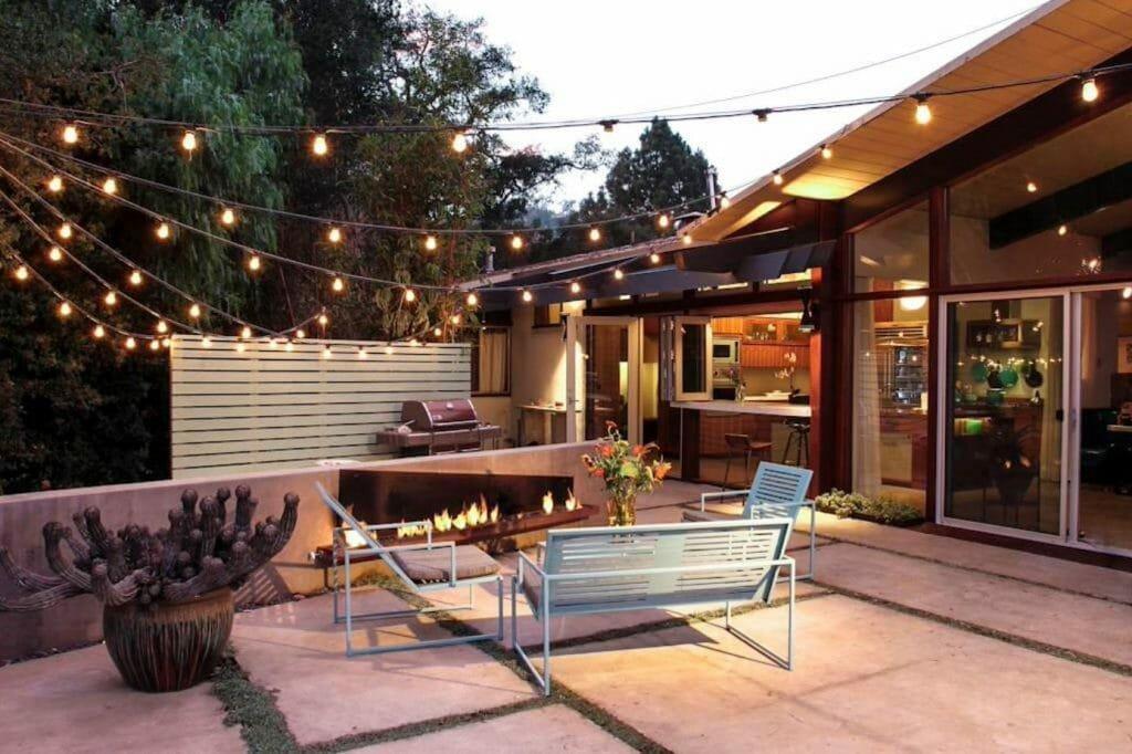 top backyard lighting trends cafe lighting