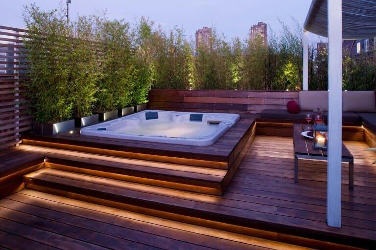 top backyard lighting trends linear accent