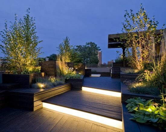 top backyard lighting trends linear deck lighting