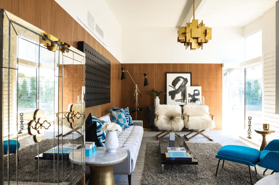 Online Interior Designer Spotlight Michelle Boudreau mid century living room