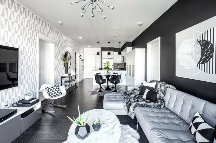 Online Interior Designer Spotlight Michelle Boudreau black and white