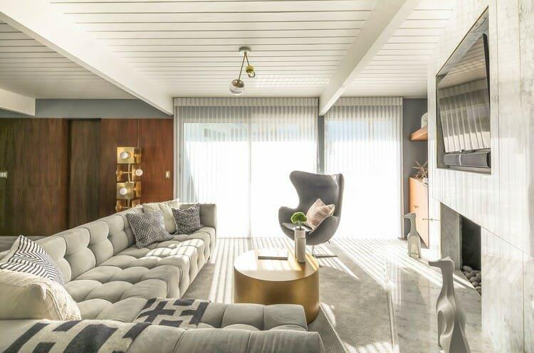 Online Interior Designer Spotlight Michelle Boudreau modern living room