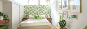 Online Interior Designer Spotlight Michelle Boudreau tropical bedroom