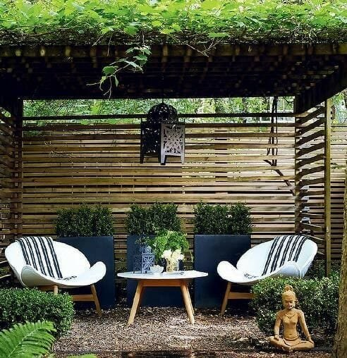 outdoor seating areas