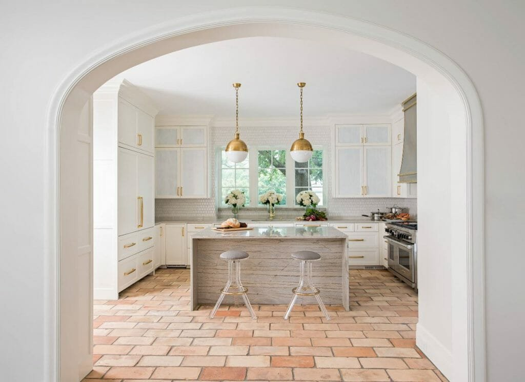 fall interior design trends terracotta tile in kitchen