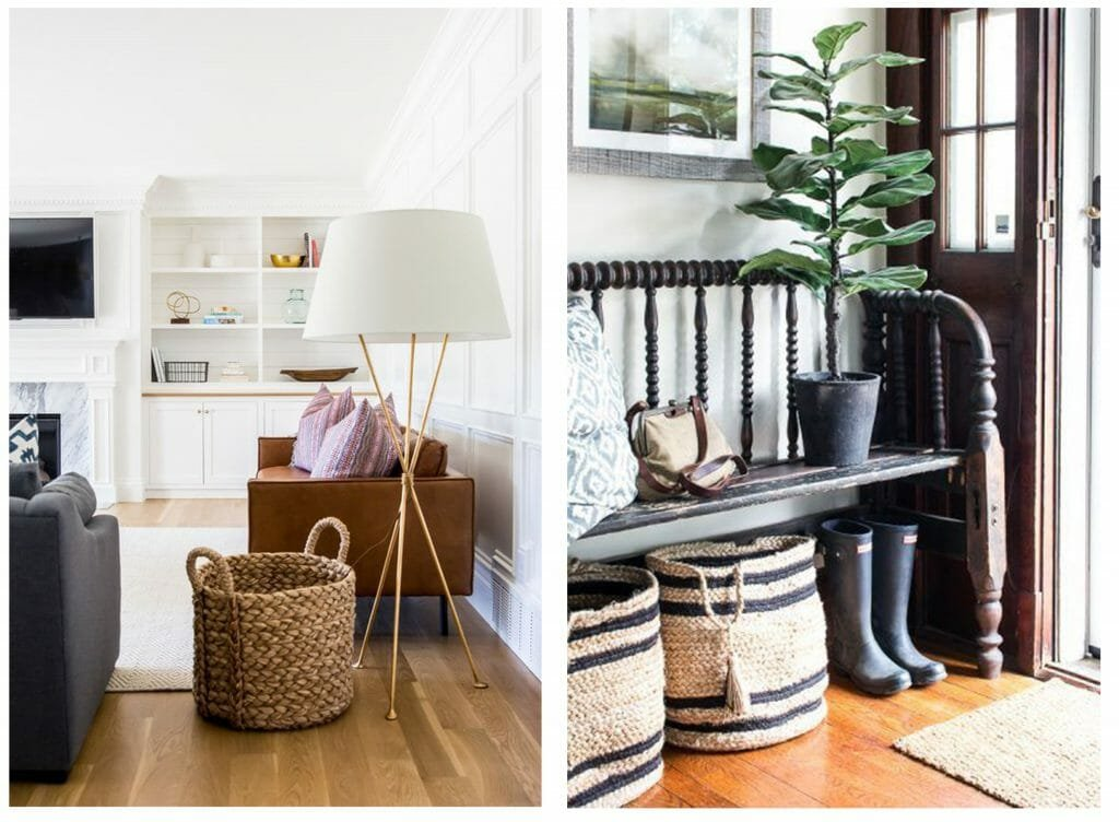 fall interior design trends woven baskets