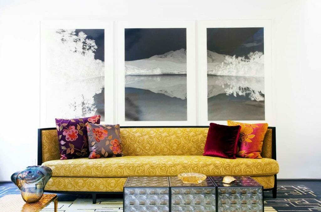 how to incorporate nature into your home-black and white art