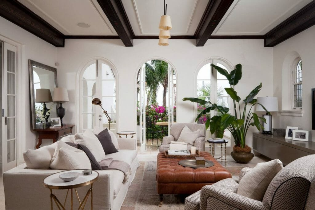 how to incorporate nature into your home- indoor plants in living room
