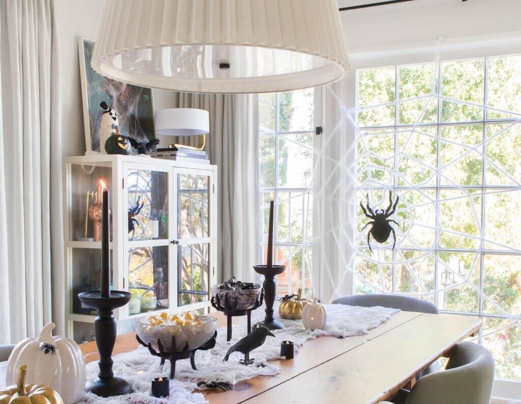 halloween decor trends emily henderson dining room spider web