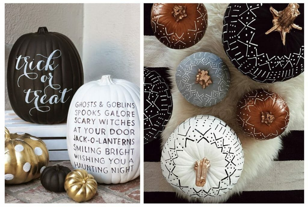 halloween decor trends painted pumpkins
