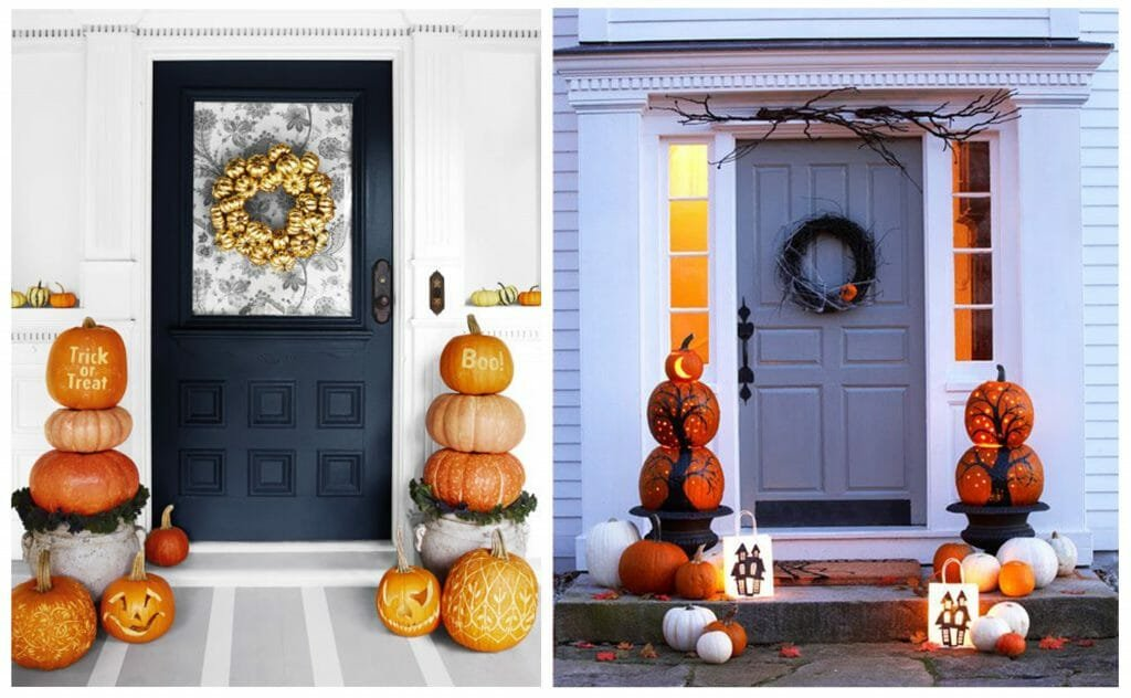 halloween decor trends pumpkin topiary