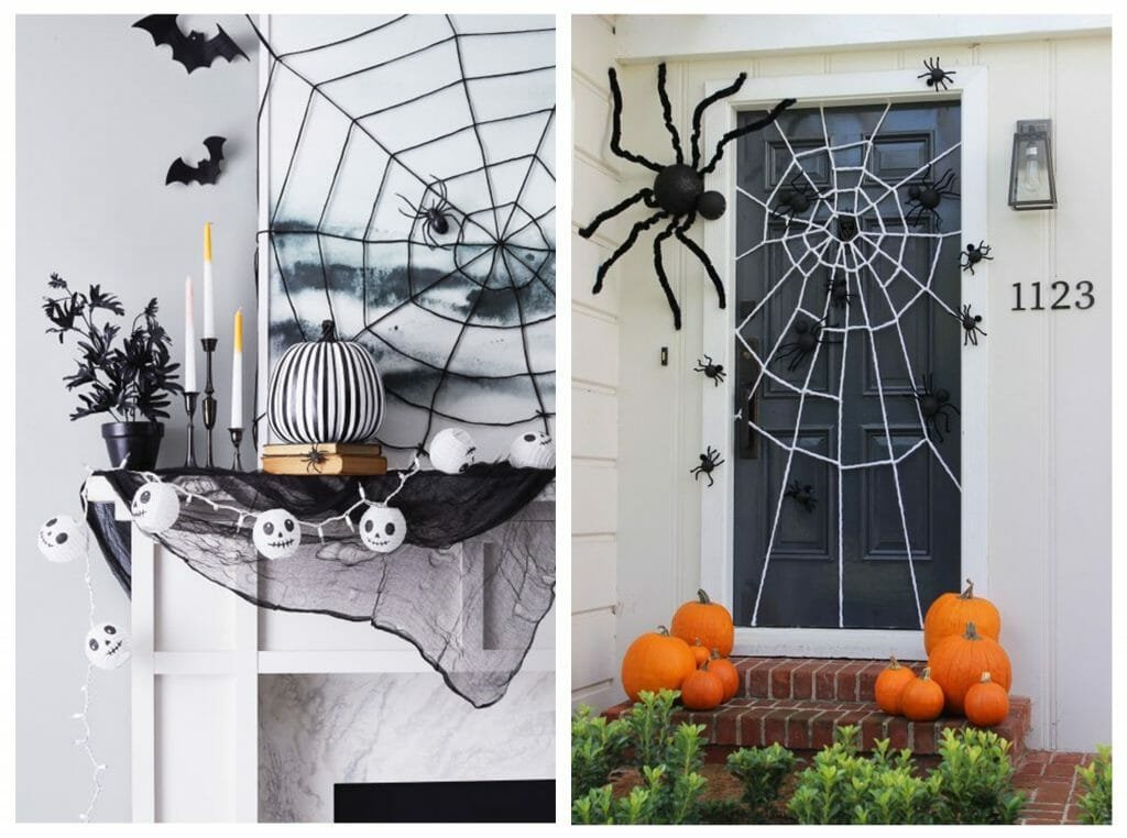 halloween decor trends spider web