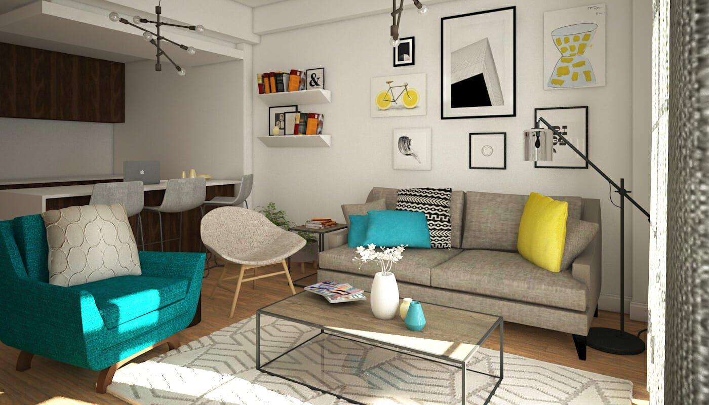 Online interior designer-Before-after_living room design-1