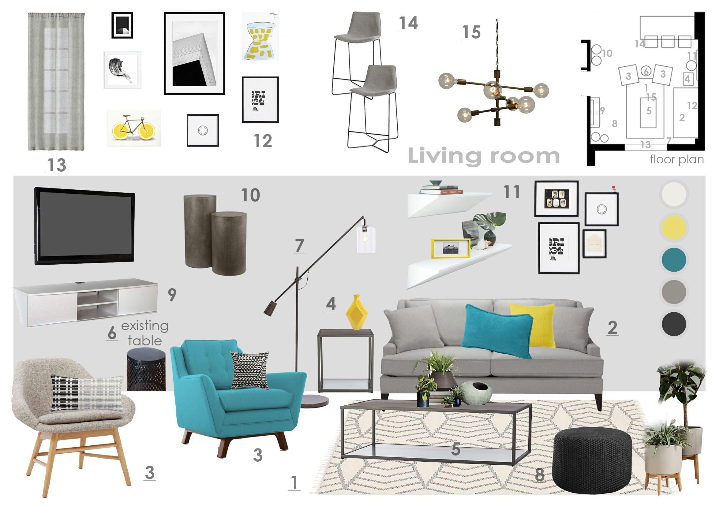 Online interior designer-Before-after_living room design