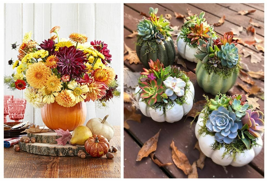fall table decorations pumpkin vase