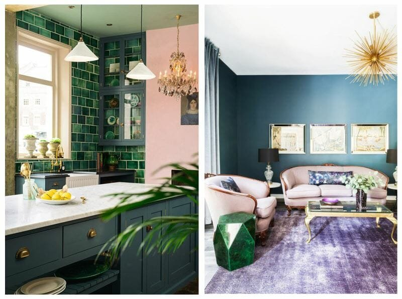 winter design trends emerald green