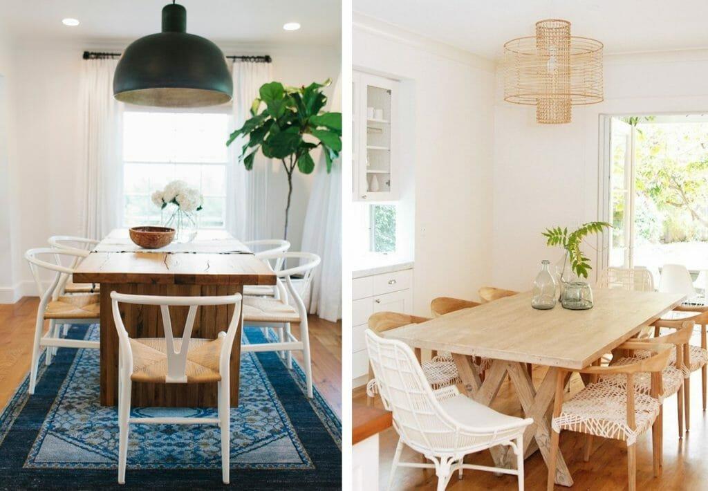 California home design dining room