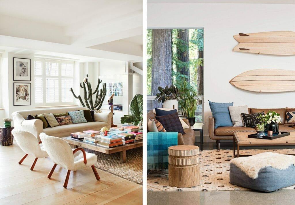 California home design light wood