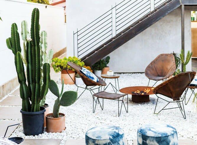 California home design outdoor firepit