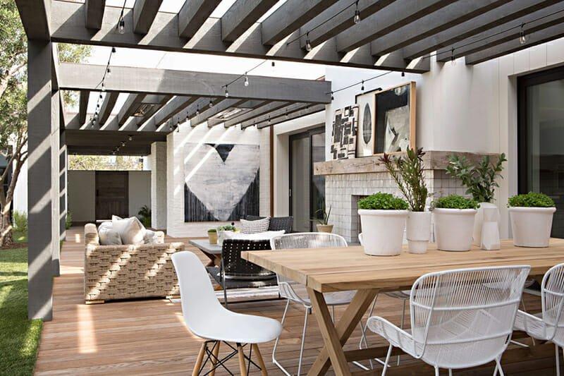 California home design black and white outdoor