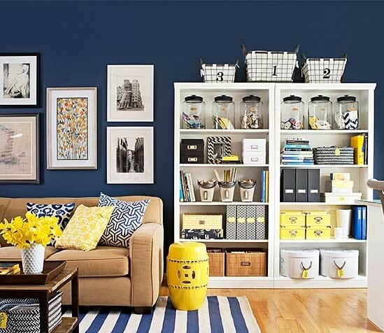how to organize your home - bookshelf organization