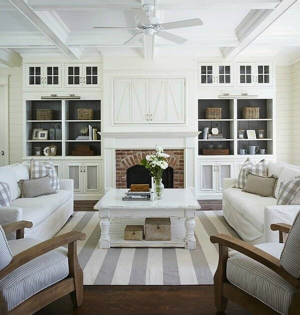 how to organize your home - living room organization