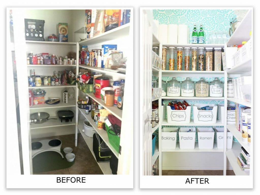 pantry organization before and after