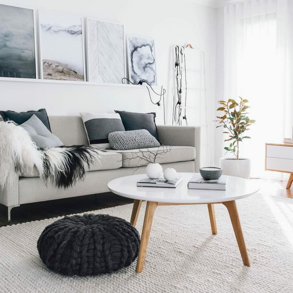 hygge home decor living room