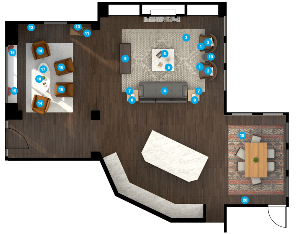 local interior designer help with floor plan
