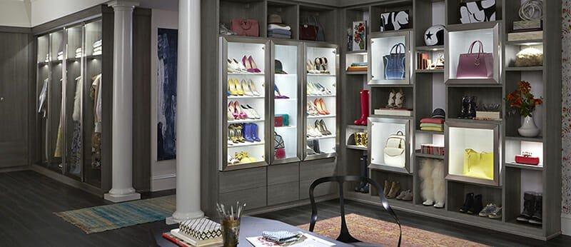walk-in closet design fashion