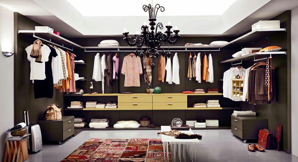 walk-in closet design focal point