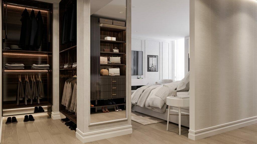 walk-in closet design good lighting