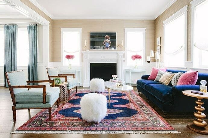 How to Incorporate Pink Decor into your home pink rug