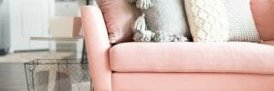 How to Incorporate Pink Decor into your home pink sofa