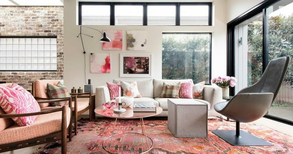 pink accents interior design