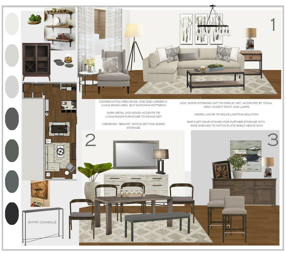 rustic chic online interior design moodboard