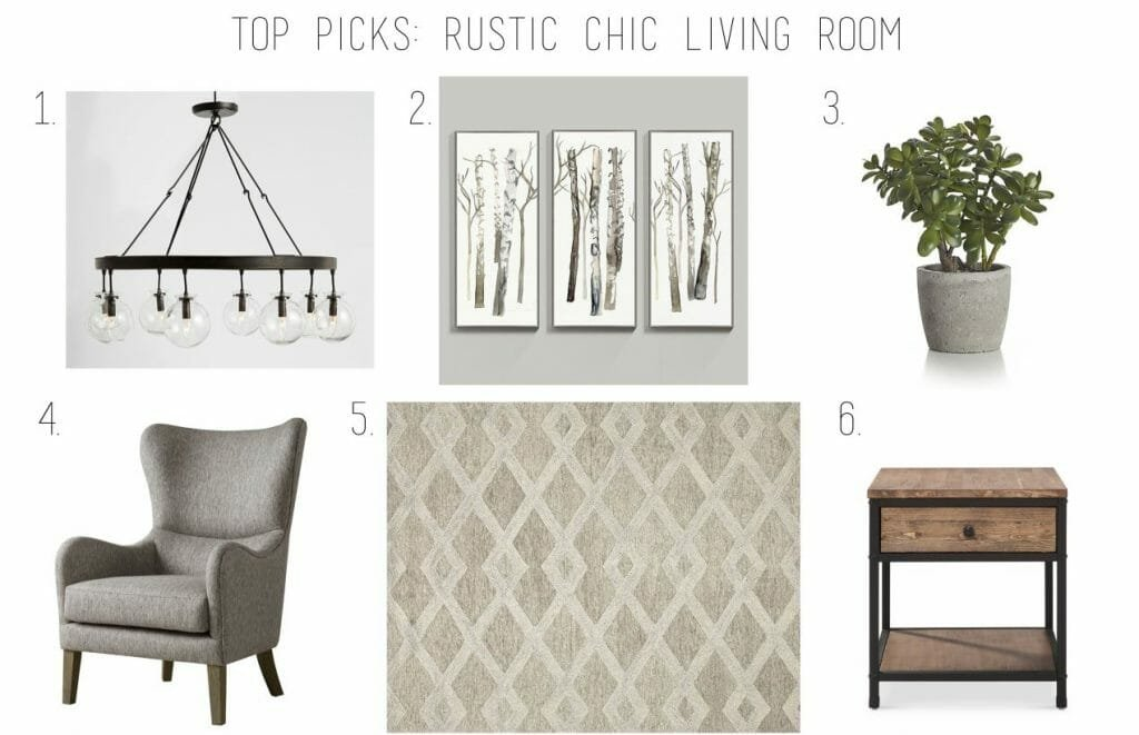 top picks rustic chic living room
