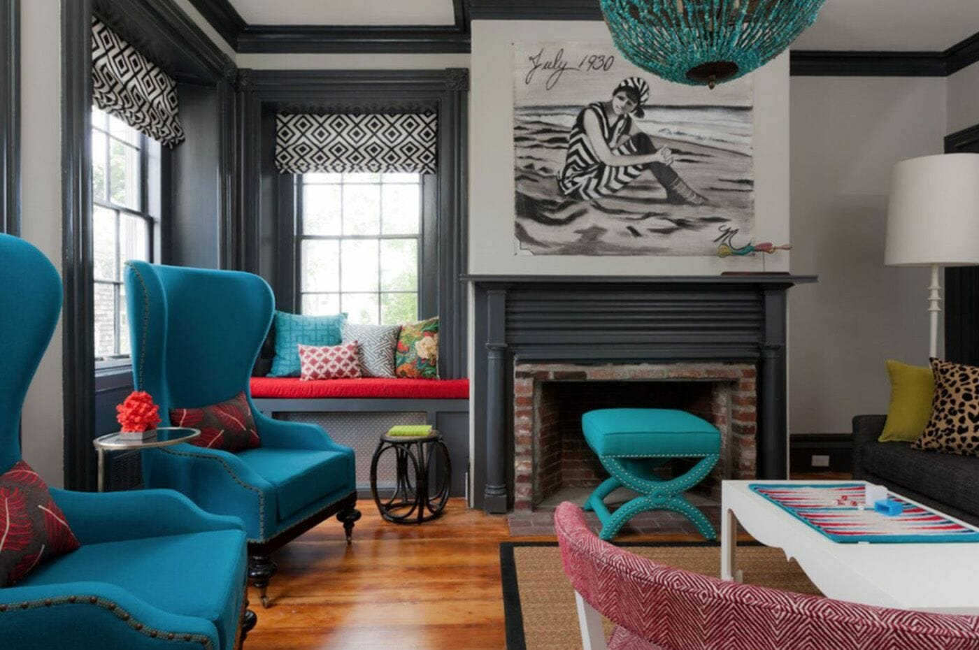 Eclectic interiors statement high back chairs