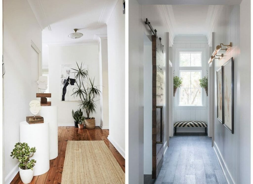 How to decorate a hallway with greenery