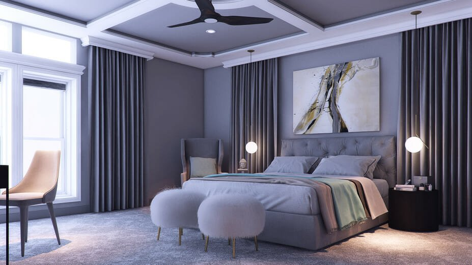 bedroom color combinations grey