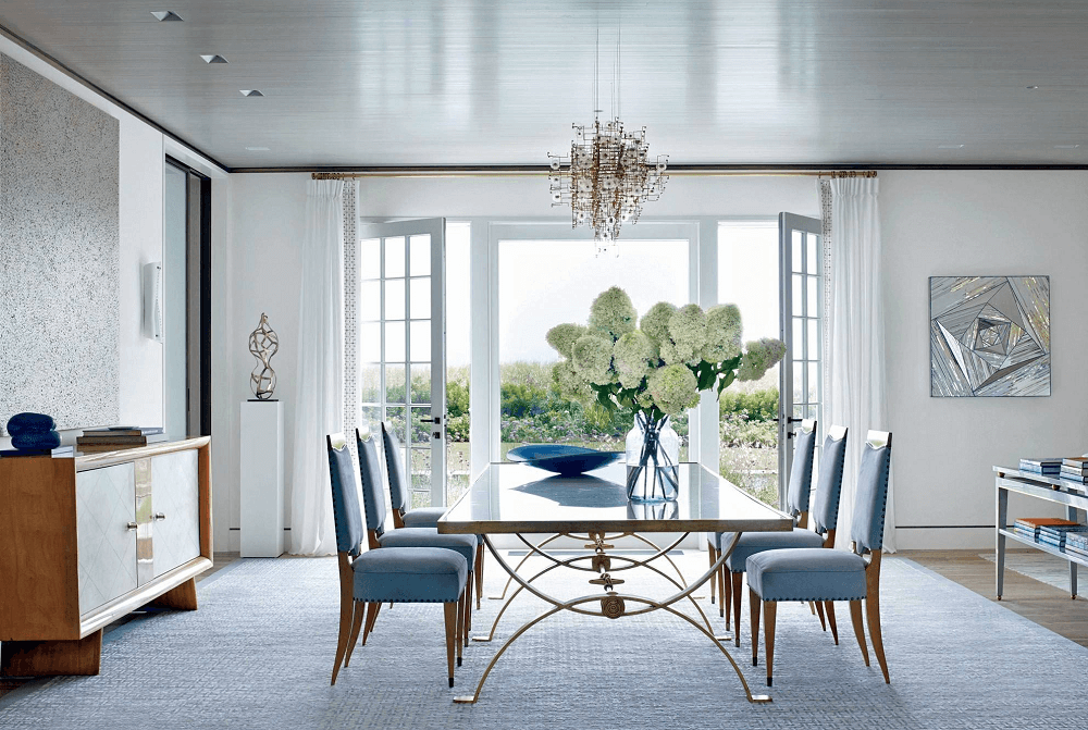 blue summer interior design trend