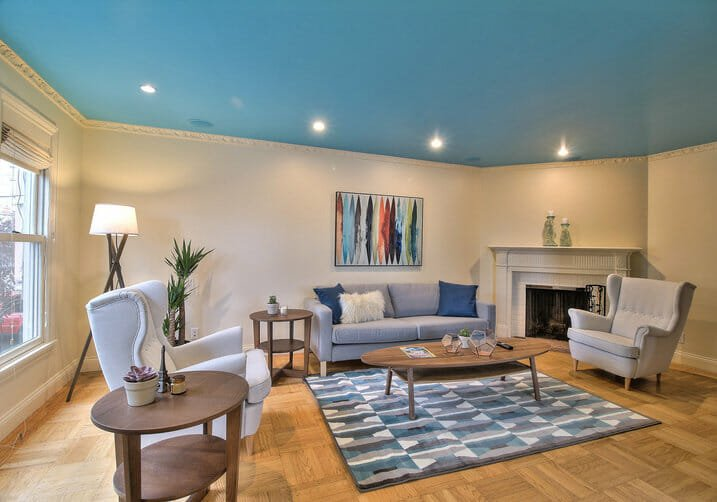blue ceiling paint ideas