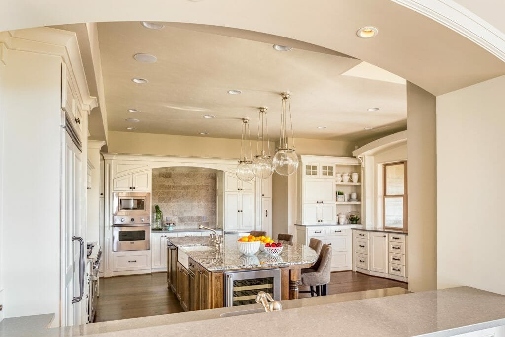 open shelving kitchen country