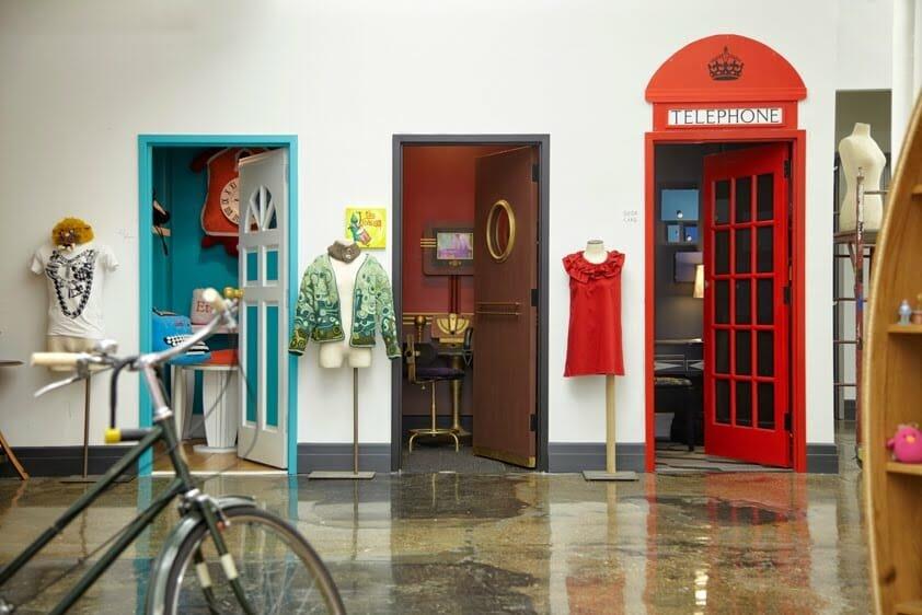 small office interior design colorful