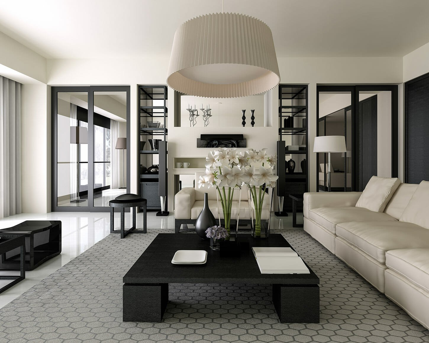 black and white living room decor timeless design