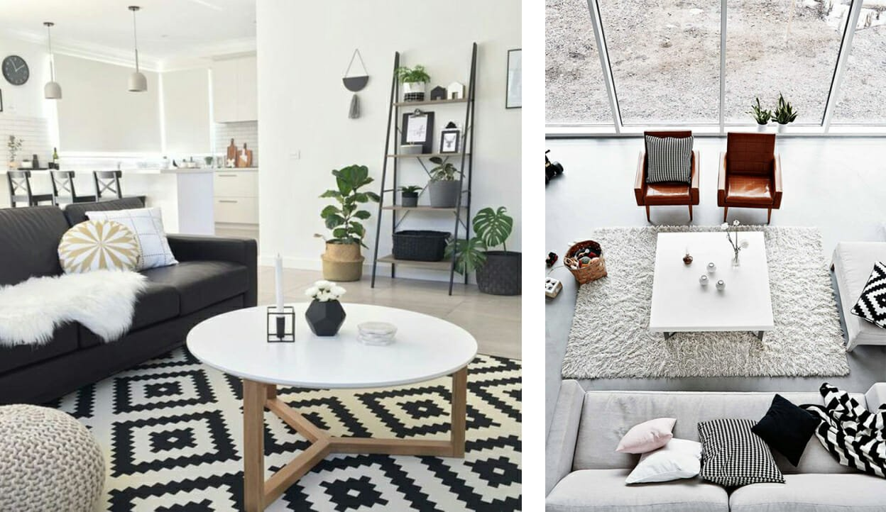 Classic and Chic: Black and White Living Room Decor | Decorilla