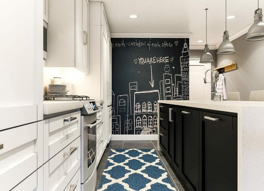 modern-kitchen-design-by-aldrin-c-with-blue-carpet-blackboard-and-black-cabinets