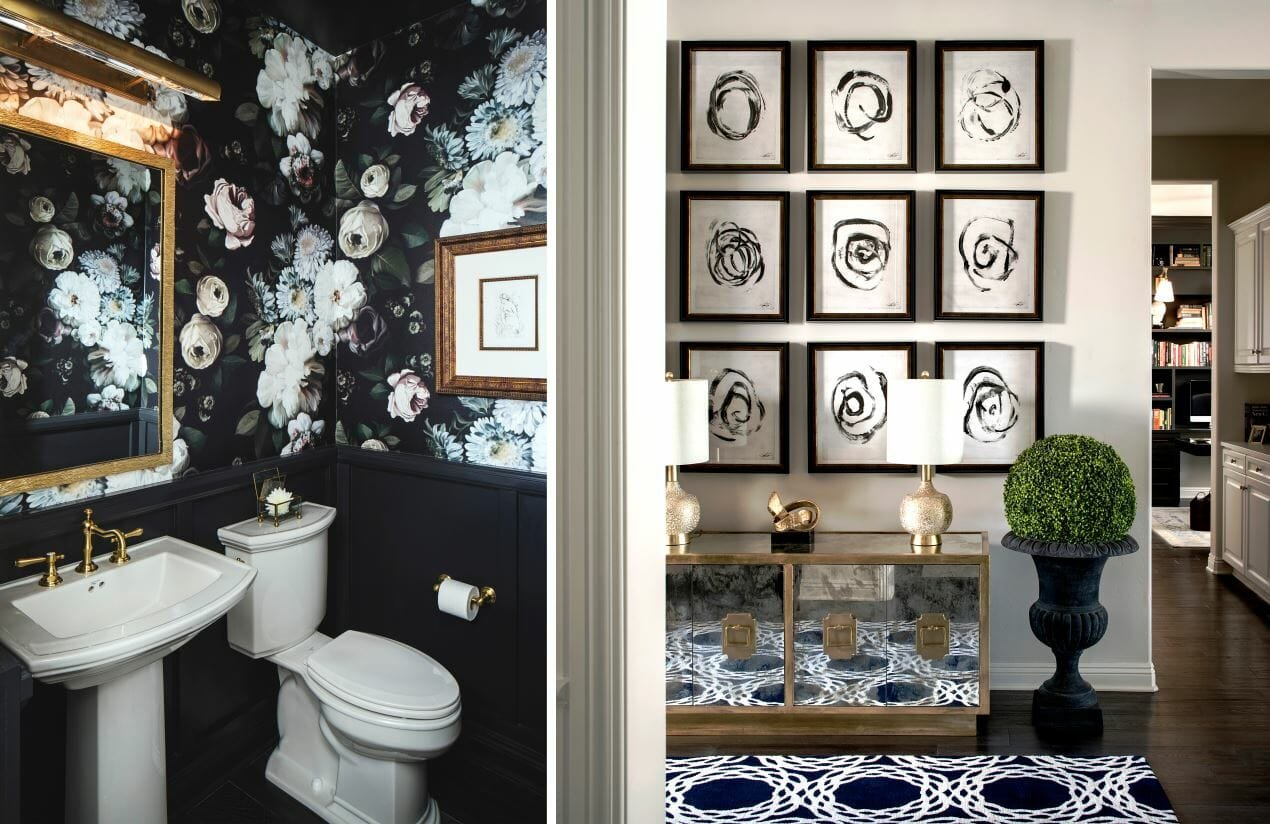 online interior designer spotlight corine m powder room and entry
