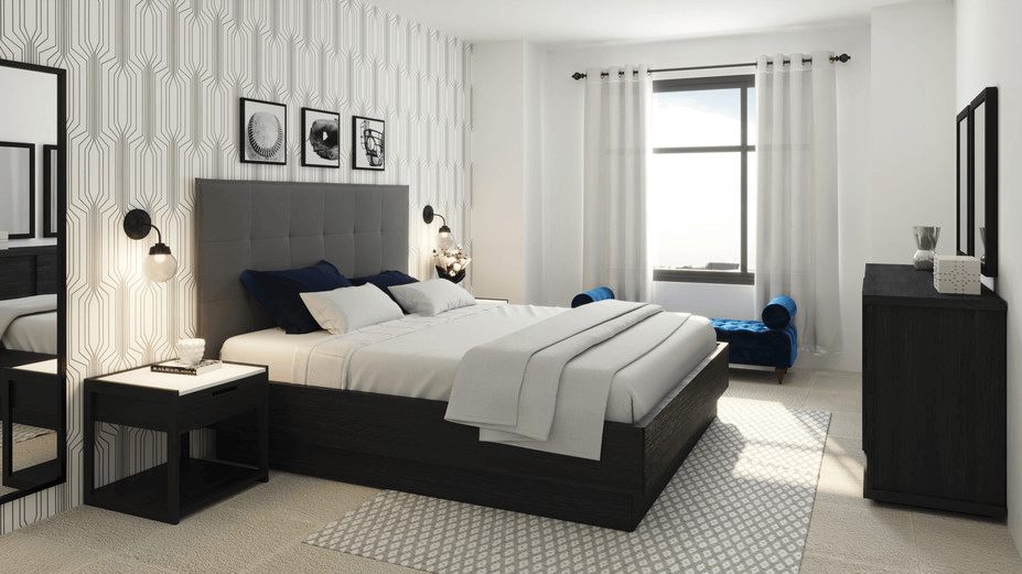 contemporary online bedroom design 3d